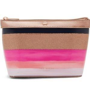Ted Baker Marina Mosaic Striped Cosmetic Bag